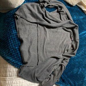 Gray cardigan